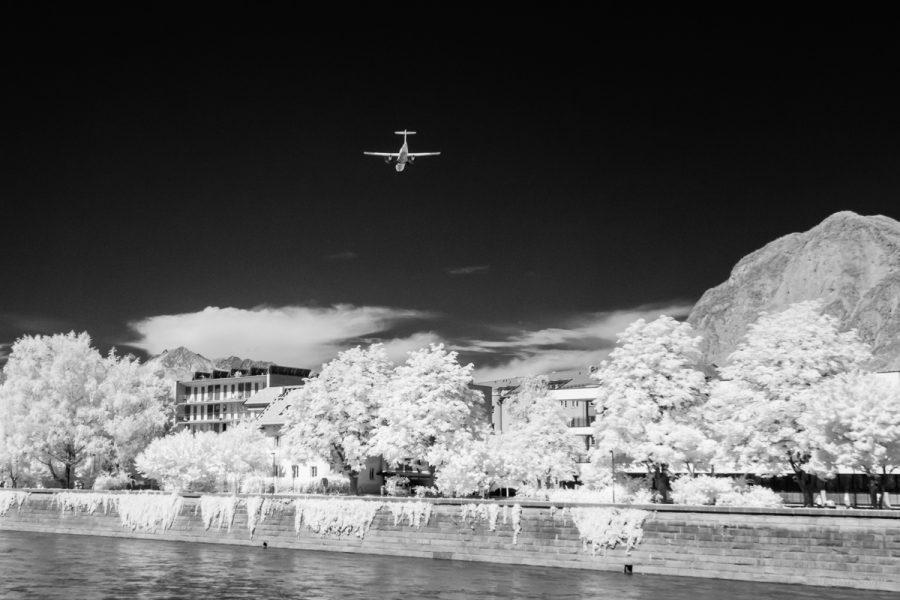 Im Landeanflug über Innsbruck